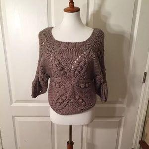 Nordstrom Ya Los Angeles Purple Chunky Knit Top